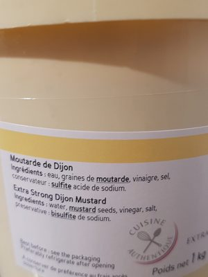 Moutarde De Dijon 1, 05L - Ingredienti