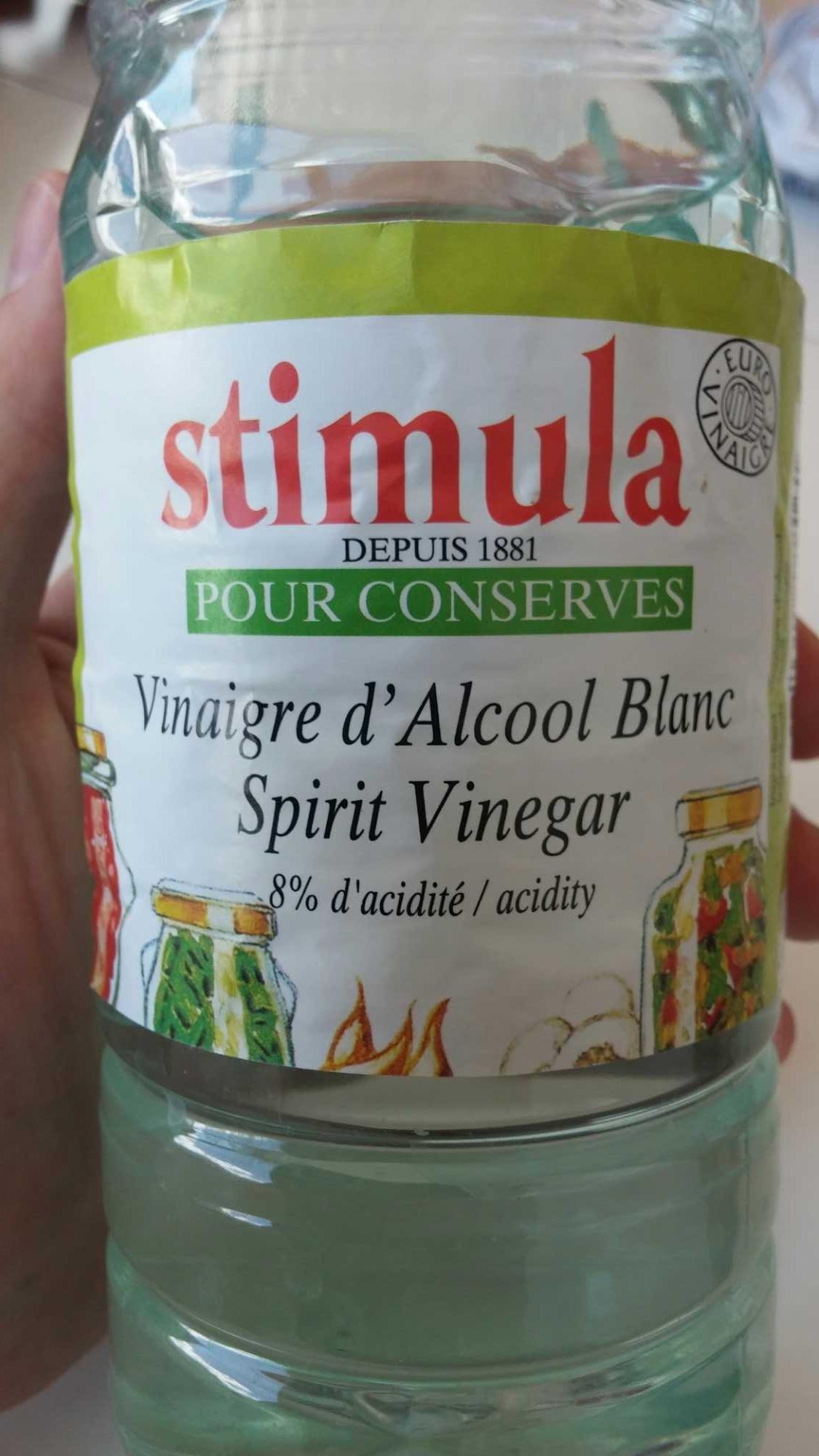 """1L Vinaigre Alcool Cristal 8 ° "" - Product - fr"