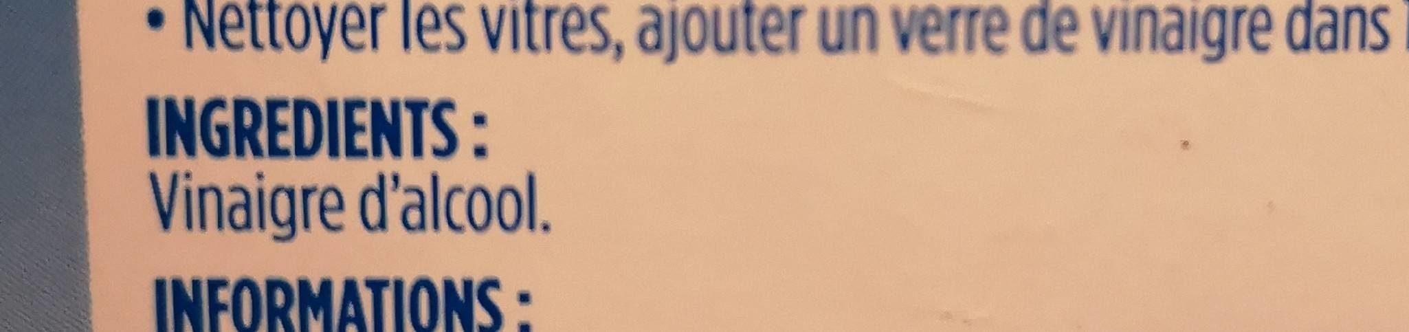 Vinaigre d'alcool cristal - Ingrediënten - fr