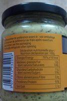 Moutarde vinaigre de cidre - Nutrition facts