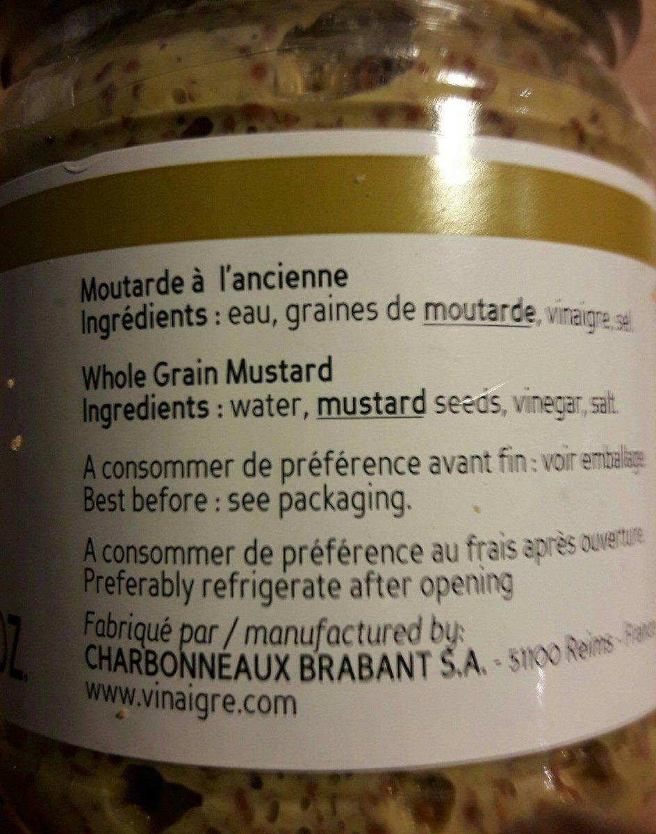 Beaufor Dijon Mustard Ancienne - Ingrédients