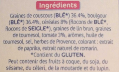 Céréales Faciles Recette Provençale - Ingredients