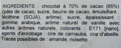 Dragées - Ingrédients