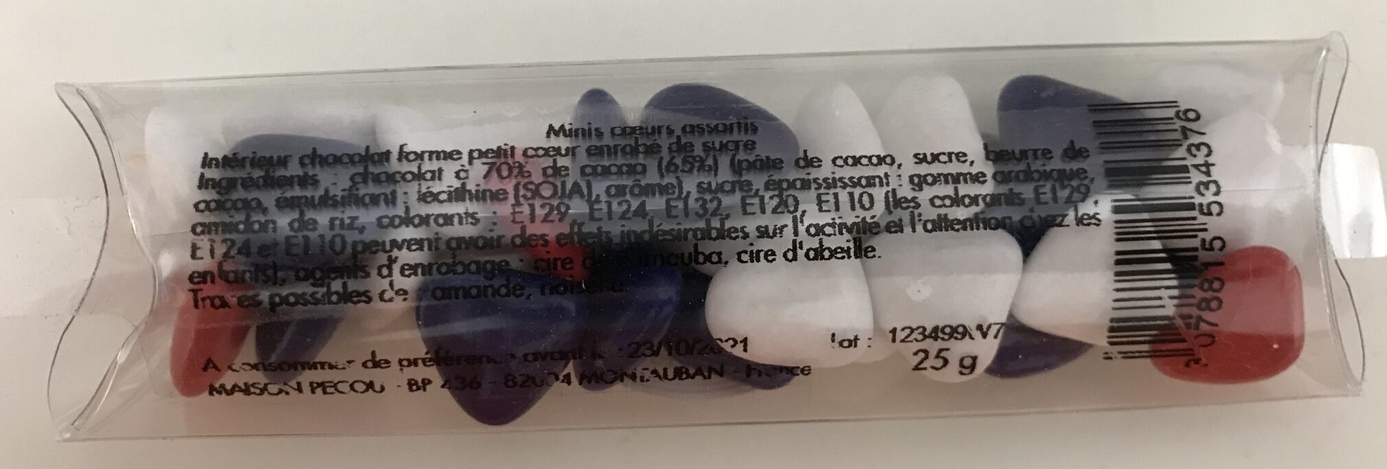 Minis cœurs assortis - Voedingswaarden