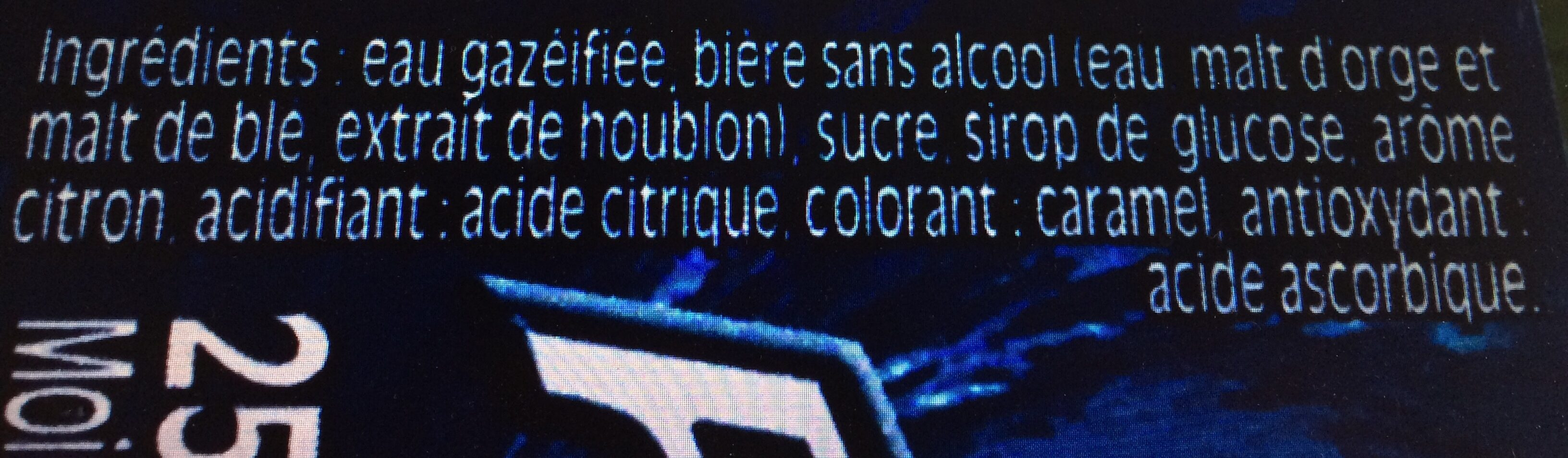 Force 4 Shandy - Ingredients