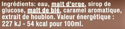 Grimbergen - 50cl bte grimbergen - 6.70 degre alcool - Ingrédients - fr