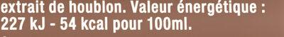 Grimbergen 50CL BTE GRIMBERGEN 6.70 DEGREE ALCOOL - Valori nutrizionali - fr
