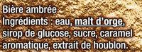 Grimbergen - 6x25cl grimbergen ambree - 6.50 degre alcool - Ingredients - fr