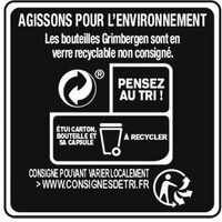 Grimbergen - 6x25cl grimbergen ambree - 6.50 degre alcool - Recycling instructions and/or packaging information - fr