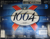 1664 - 20x25cl 1664 - 5.50 degre alcool - Prodotto - fr