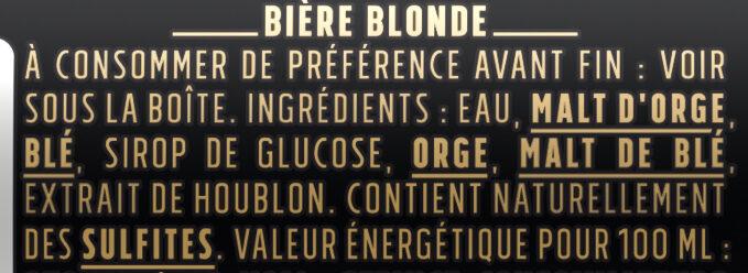 Kronenbourg,Bud - Ingredients - fr
