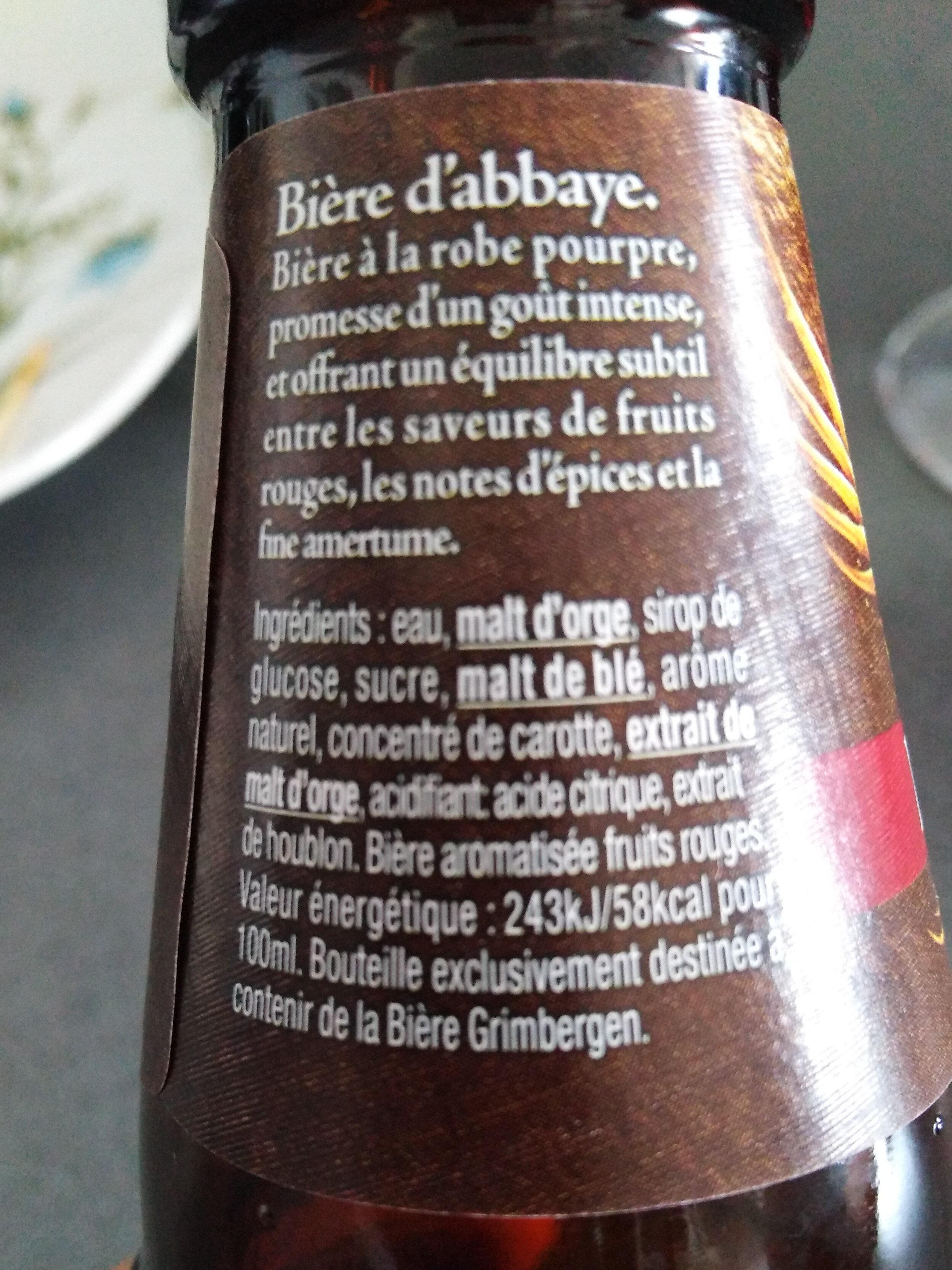 Bière - Ingrediënten