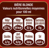 Grimbergen 24X25CL GRIMBERGEN FORMAT SPE 6.7 DEGRE ALCOOL - Valori nutrizionali - fr