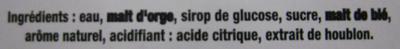 Bière blonde aromatisée poire Grimbergen - Ingrédients