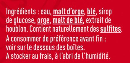 Kronenbourg 6X50CL BOITE KRO 4.2 DEGRE ALCOOL - Ingredienti - fr