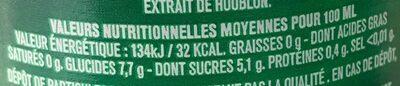 Tourtel - 27,5cl tourtel twist citron - 0.00 degre alcool - Informations nutritionnelles - fr