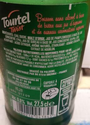 TOURTEL TWIST (agrumes) - Ingrédients - fr
