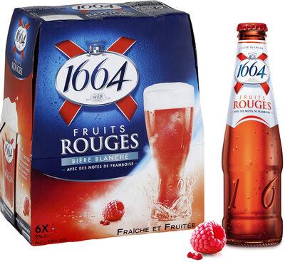 1664 6x25cl 1664 fruits rouges 4.5 degre alcool - Produit - fr