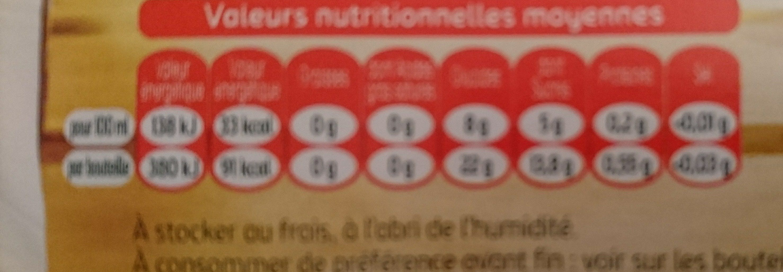 Tourtel - 6x27,5cl tourtel twist ora sanguine - 0.00 degre alcool - Informations nutritionnelles - fr