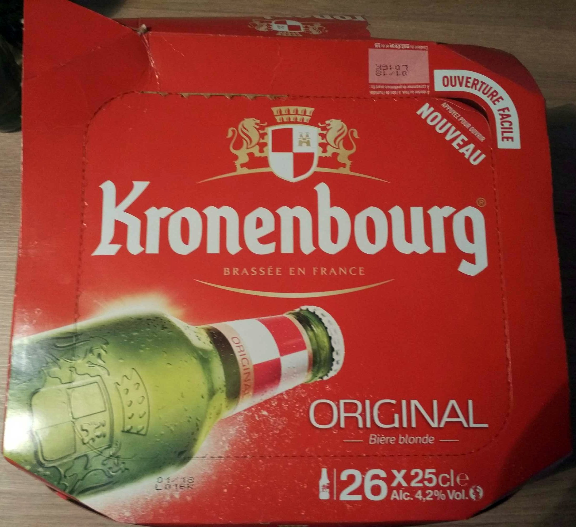 original bi re blonde kronenbourg 26 x 25 cl. Black Bedroom Furniture Sets. Home Design Ideas