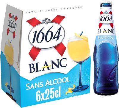 1664 6x25cl 1664 blanc sans alcool 0.4 degre alcool - Prodotto - fr