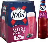 1664 - 6x25cl 1664 mure myrtille - 4.50 degre alcool - Prodotto - fr