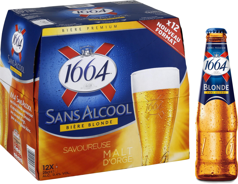 1664 - 12x25cl 1664 blonde sans alcool - 0.40 degre alcool - Prodotto - fr