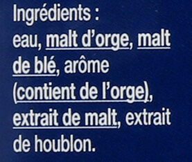 1664 - 12x25cl 1664 blonde sans alcool - 0.40 degre alcool - Ingredienti - fr