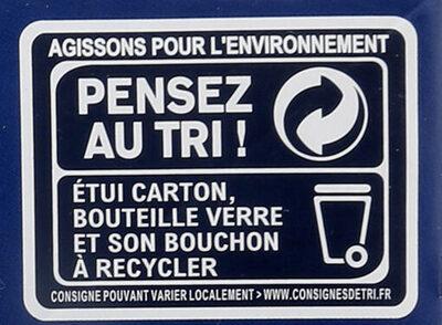 1664 - 12x25cl 1664 blonde sans alcool - 0.40 degre alcool - Istruzioni per il riciclaggio e/o informazioni sull'imballaggio - fr