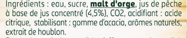 Tourtel - 6x27,5cl tourtel twist peche - 0.00 degre alcool - Ingrédients - fr