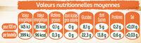 Tourtel - 6x27,5cl tourtel twist peche - 0.00 degre alcool - Informations nutritionnelles - fr