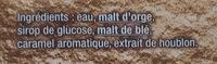 Grimbergen - 25cl grimbergen blonde - 6.70 degre alcool - Ingredienti - fr