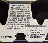 Tuborg - 3x33cl skoll caipi - 6.00 degre alcool - Ingredienti - fr