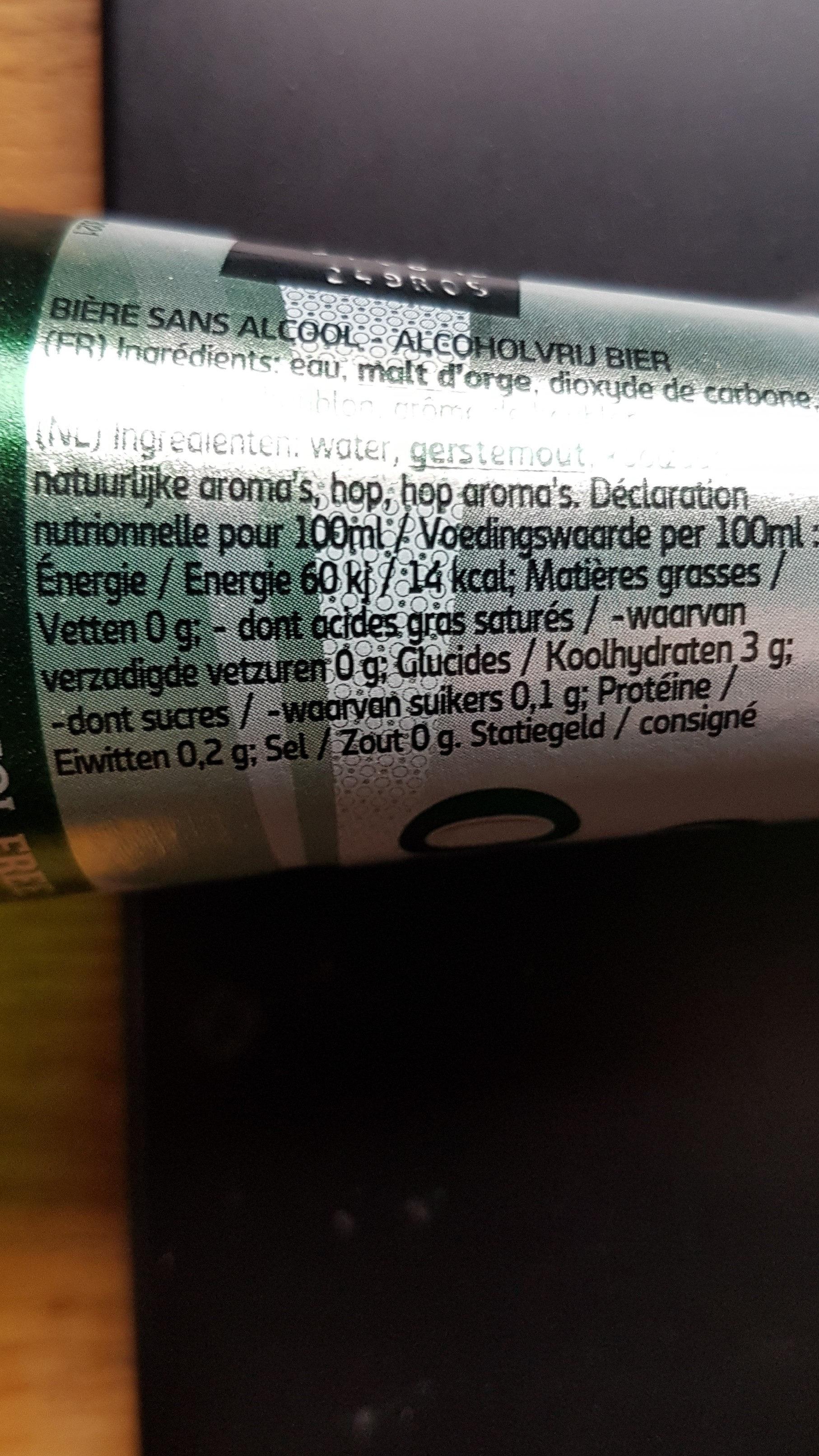 Carlsberg 0% - Informations nutritionnelles - fr