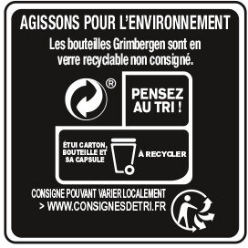Grimbergen - 6x25cl grimbergen blonde - 6.70 degre alcool - Istruzioni per il riciclaggio e/o informazioni sull'imballaggio - fr