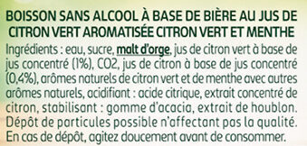 Twist citron vert 0.0% - Ingredients - fr