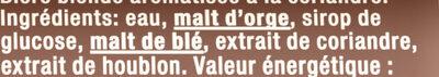 Grimbergen 50CL CAN GRIMBERGEN TRIPLE 8.0 DEGRE ALCOOL - Ingredienti - fr