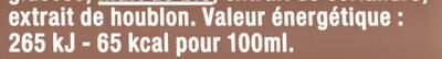 Grimbergen 50CL CAN GRIMBERGEN TRIPLE 8.0 DEGRE ALCOOL - Valori nutrizionali - fr