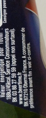 1664 - 25cl 1664 - 5.50 degre alcool - Voedingswaarden - fr
