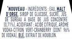 Cosmopolitan - Ingredienti - fr