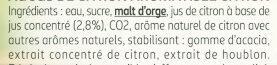 Bière Sans Alcool CITRON 0,0% - Ingredienti - fr
