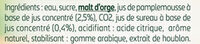 Tourtel - 6x27,5cl tourtel twist agrume - 0.00 degre alcool - Ingrédients - fr