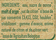 Tourtel - 6x27,5cl ttwist citr frbio-01 - 0.00 degre alcool - Ingrédients - fr