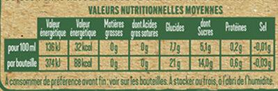 Tourtel - 6x27,5cl ttwist citr frbio-01 - 0.00 degre alcool - Informations nutritionnelles - fr