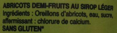 Abricots Pelés - Ingrédients - fr