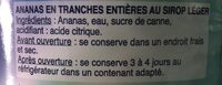 A10 Ananas 50 / 60 Tranche St Mamet - Ingrédients - fr