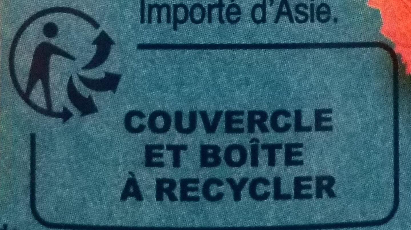 Lychees dénoyautés - Istruzioni per il riciclaggio e/o informazioni sull'imballaggio - fr