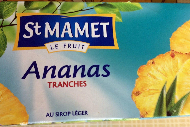 Ananas tranches au sirop léger - Produit - fr