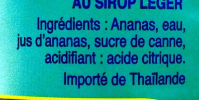 Ananas morceaux - Ingredients