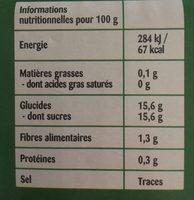 Compotes Les Berlingos' Animos Jungle pomme nature 50% remboursés - Ingrédients